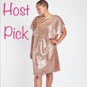 🌟🌟HOST PICK🌟🌟Anna Scholz Nude Sequin Tunic
